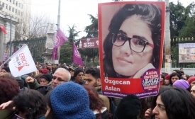 Protests in Turkey after the murder of Özgecan Aslan, February 2015