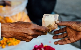 Rupees Exchanging Hands
