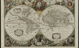 World map from Golden Age of Dutch cartography