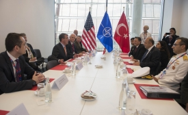 WARSAW, Poland (July 9, 2016) Secretary of Defense Ash Carter meets with Turkish Minister of Defence Vecdi Gönül at the 2016 NATO summit in Warsaw, Poland July 9, 2016. (DoD photo by Navy Petty Officer 1st Class Tim D. Godbee)(Released)