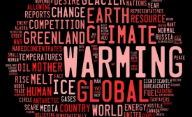 Global warming graphic based on word frequency