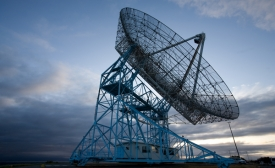 """SRI's """"Dish"""", a radio antenna facility operated by SRI for the U.S. government"""