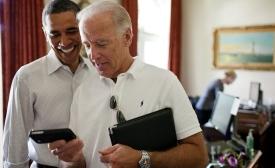 Barack Obama & iPhone by Janeb13
