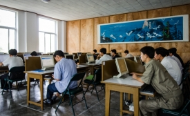 A classroom in North Korea