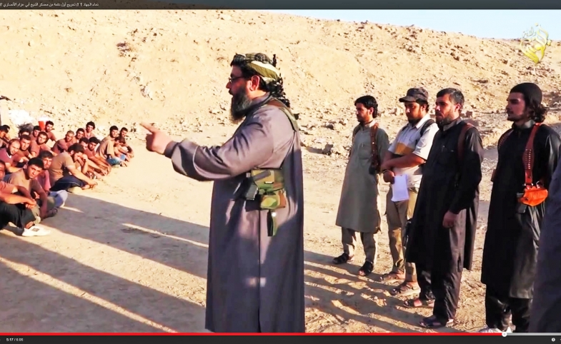 Video still from an Islamic State training video