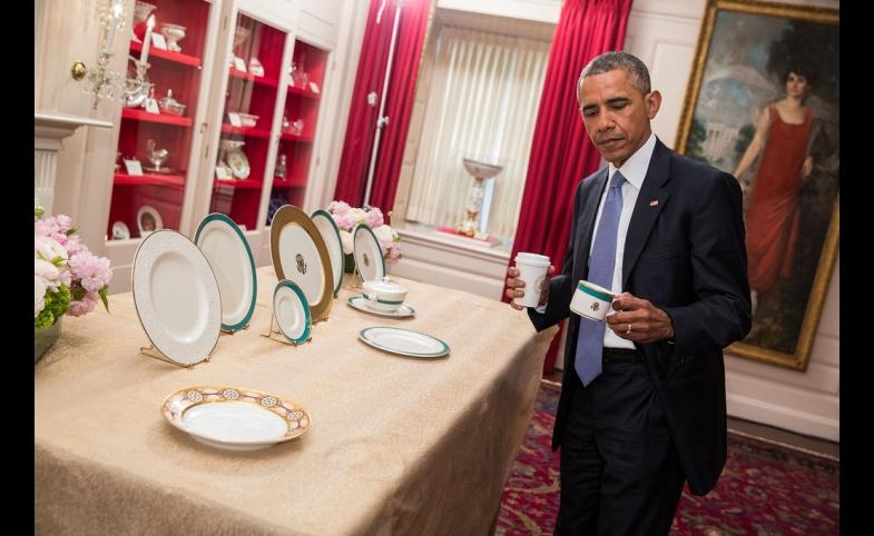 Barack Obama Inspects New China, 2015, by Amanda Lucidon