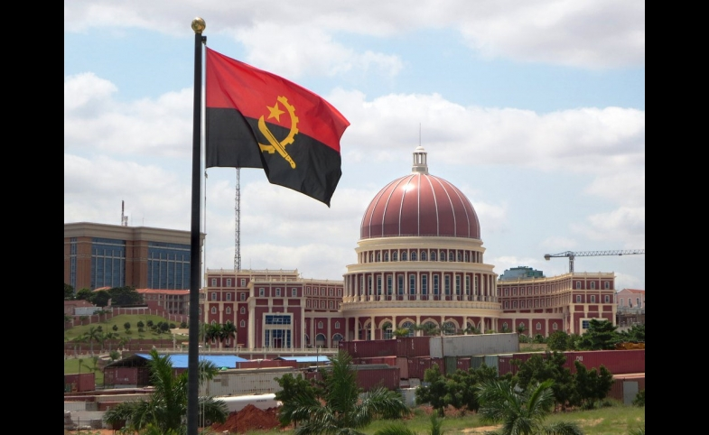 The National Assembly building in Luanda, Angola