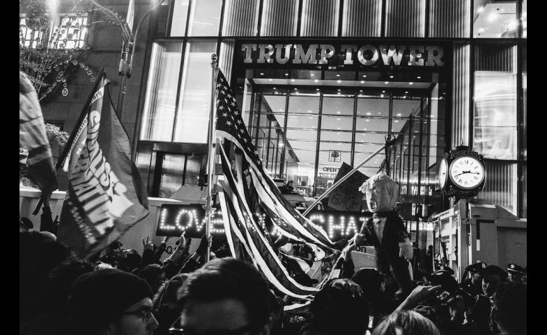 New York Rally Against Trump, by Mathias Swasik