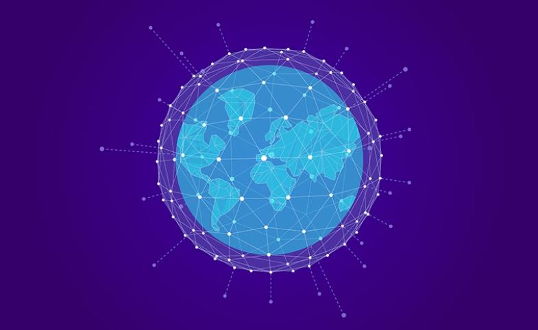 Global network. Image by loginueve_ilustra via Pixabay.com