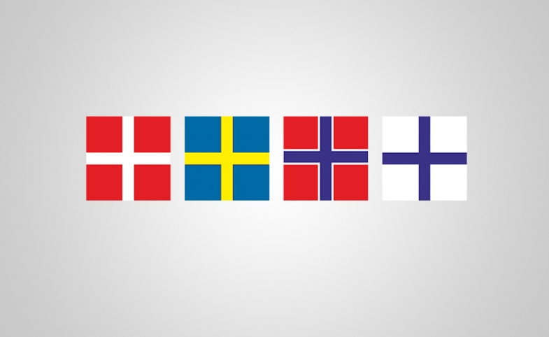 Nordic flags by Alanyadk via Pixabay.com