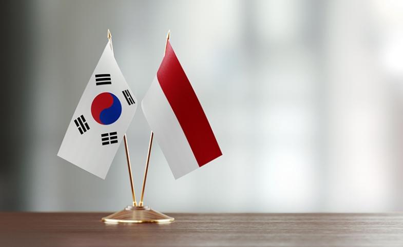 Korea Indonesia flags Image via iStock