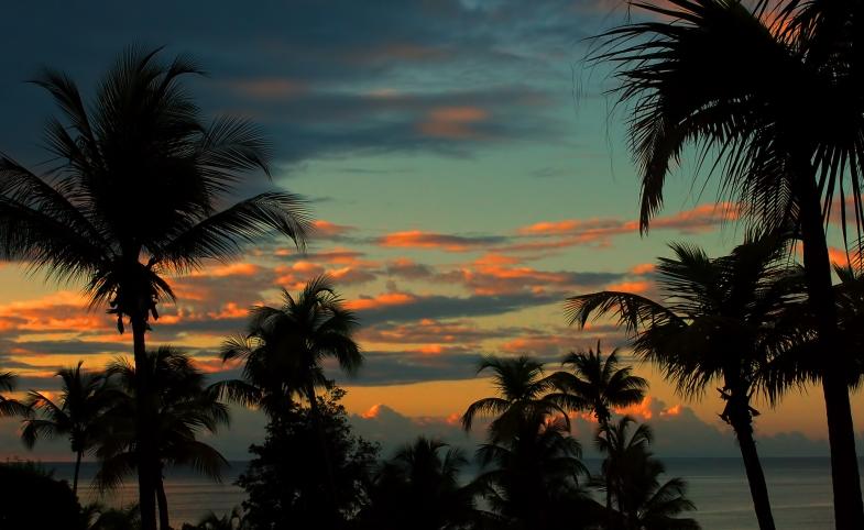 Sunset over Puerto Rico