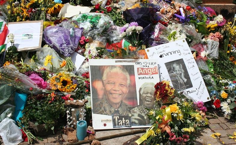 A memorial for Nelson Mandela