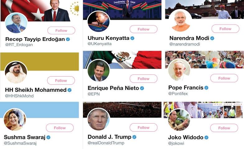 Twitter Profiles of World Leaders