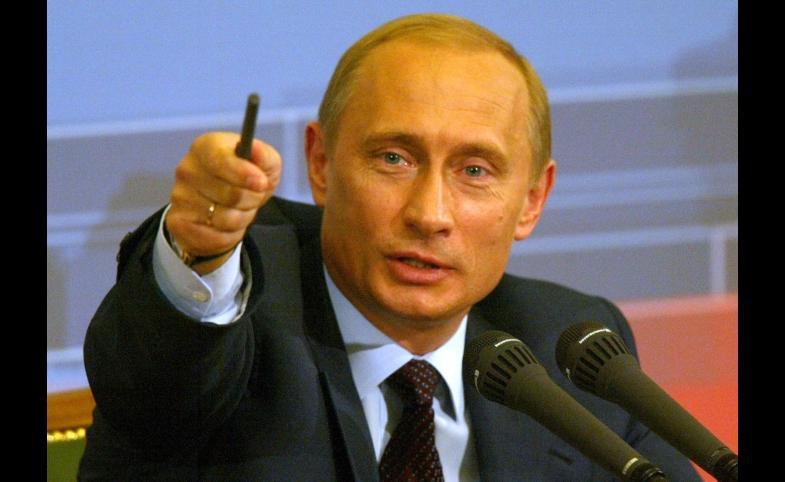 Vladimir Putin during annual Q&A conference