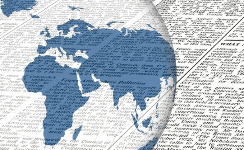 Newspaper Globe, by Geralt