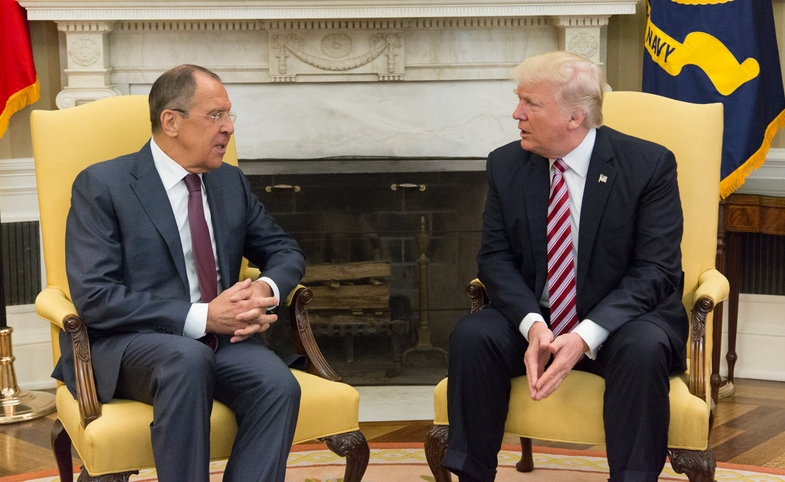 President Trump Meets with Russian Foreign Minister Sergey Lavrov