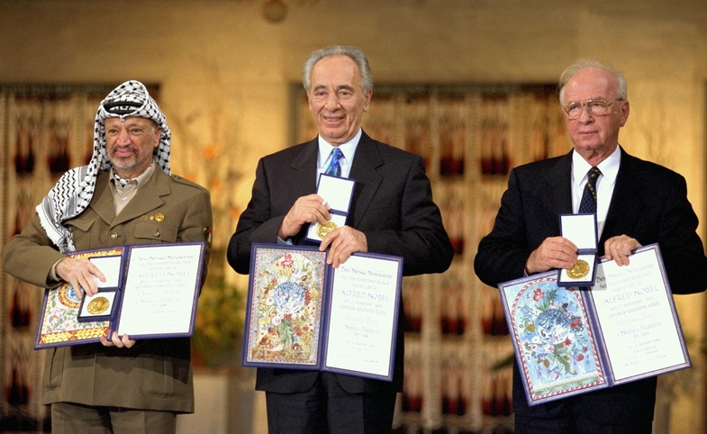 Nobel Peace Prize Laureates for 1994 in Oslo