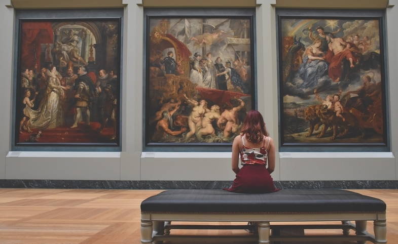 Woman and Art, by Pexels