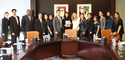 The group with H.E. Reem Al Hashimy, UAE Minister of State