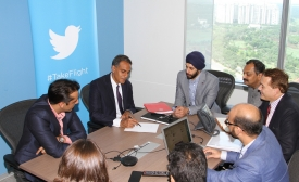 Ambassador Richard Verma Visits Twitter India Office, by U.S. Embassy New Delhi