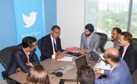 Ambassador Richard Verma Visits Twitter India Office, by U.S. Embassy New Delhi
