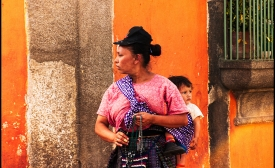 A mother and child in Antigua, Guatemala
