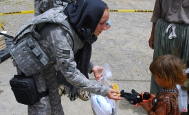 Humanitarian mission gift - picture from US Army Flickr account
