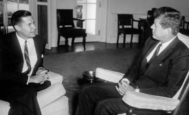 JFK Meeting with the US Ambassador to the Republic of Congo Edmund A. Gullion, 1961