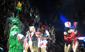 "Miley Cyrus performs ""Party in the U.S.A."""