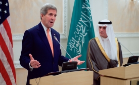 U.S. Secretary of State Kerry with Saudi Foreign Minister al-Jubeir