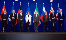Top Diplomats of P5+1 Countries and Iran Announcing the Framework for a Comprehensive Agreement on the Iranian Nuclear Program (Lausanne, 2 April 2015)