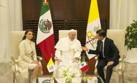 Pope Francis with Enrique Peña Nieto