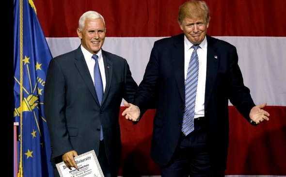 Donald Trump and running mate Mike Pence