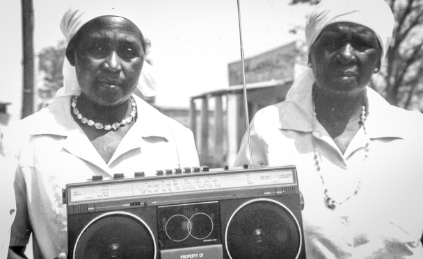 Women of the Radio Listening Clubs in Seke Zimbabwe receive radios