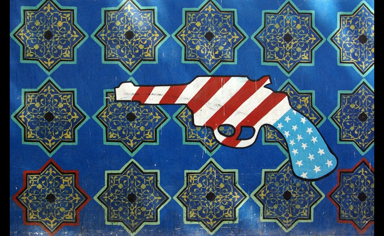 Graffiti on the U.S. embassy in Tehran
