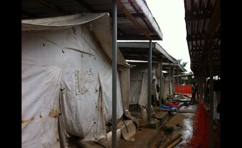 An Ebola isolation center in Freetown, Sierra Leone.