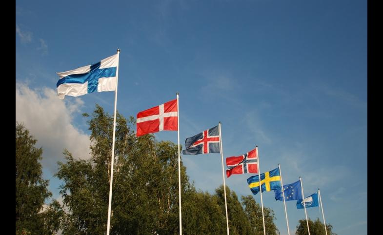 Flaggen der Skandinavischen Länder, by Flöschen