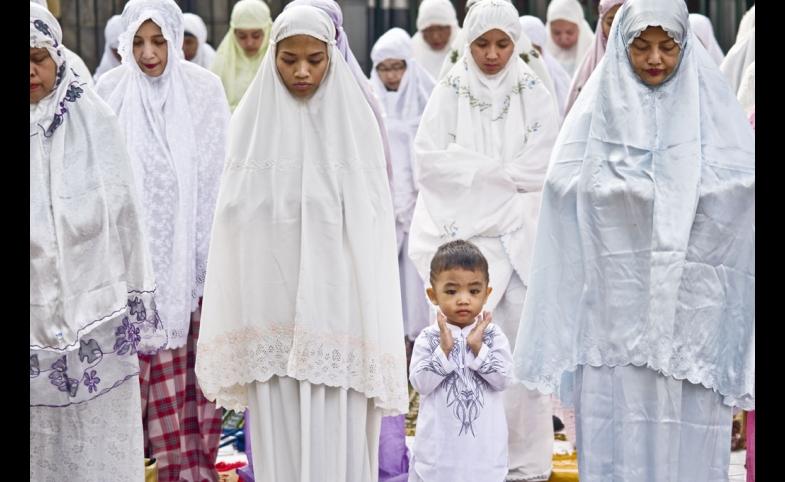 Praying in Indonesia