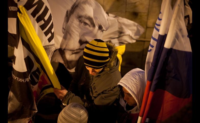 A pro-Putin rally near the Kremlin, 2012.