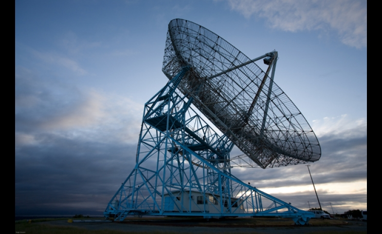 "SRI's ""Dish"", a radio antenna facility operated by SRI for the U.S. government"
