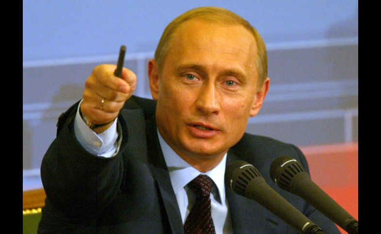 Vladimir Putin during annual Q&A conference
