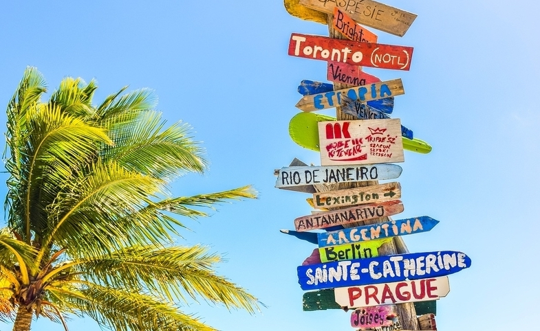 Travel Destination Signs
