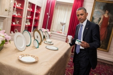 Barack Obama Inspects New China, 2015, by Amanda Lucidon