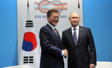 Meeting between Moon Jae-in and Vladimir Putin