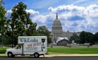 wikileaks mobile truck capital hill