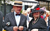 An Irish couple celebrate Bloomsday in Dublin.