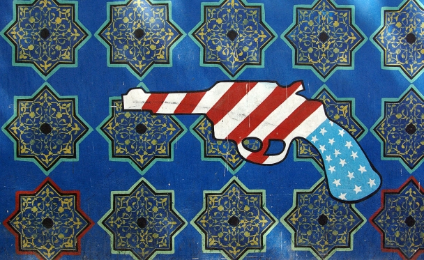 Graffiti on the U.S. embassy in Tehran. Photo reprinted courtesy Phillip Maiwald (Nikopol), via Wikimedia Commons