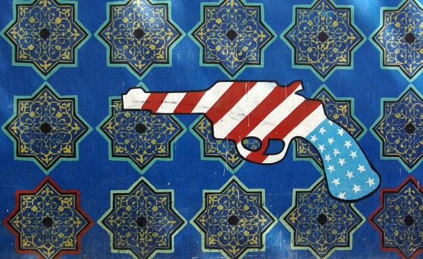 Graffiti on the U.S. embassy in Tehran. Photo reprinted courtesy Phillip Maiwald (Nikopol), via Wikimedia Commons