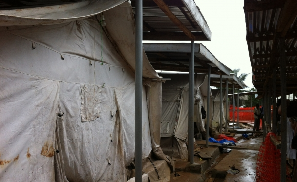 An Ebola isolation center in Freetown, Sierra Leone. Photo reprinted courtesy CDC Global, via Flickr